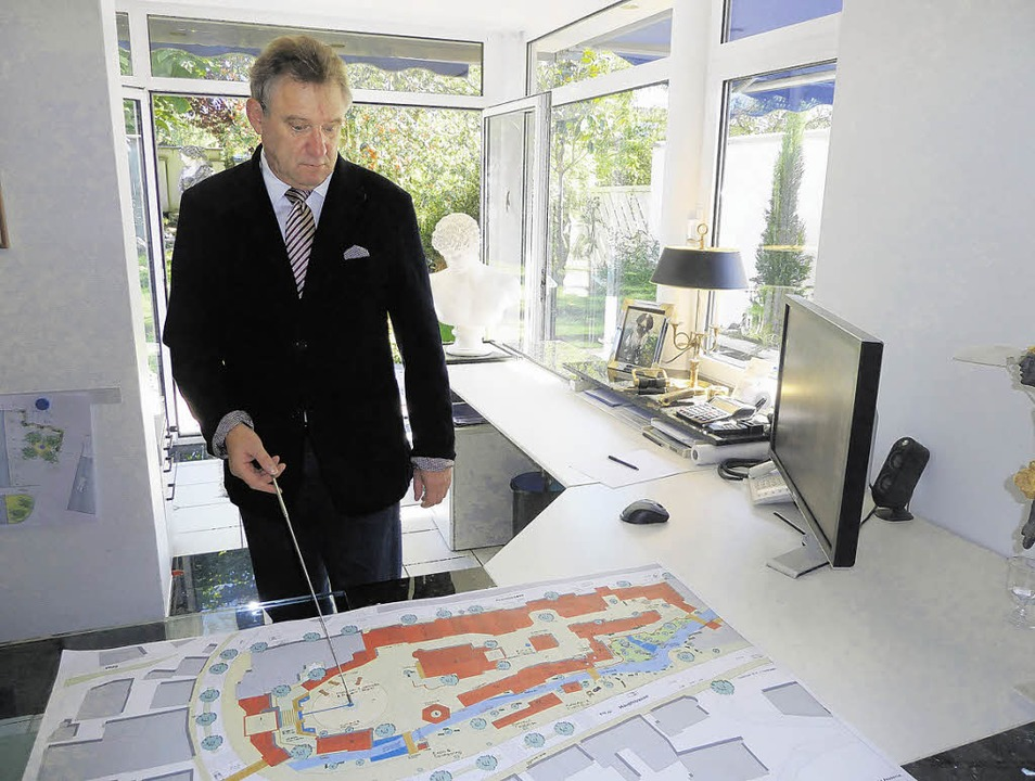 Der Breisacher Architekten Max-Dieter ... Plan für das Bühlerareal in Triberg.   | Foto: LUTz
