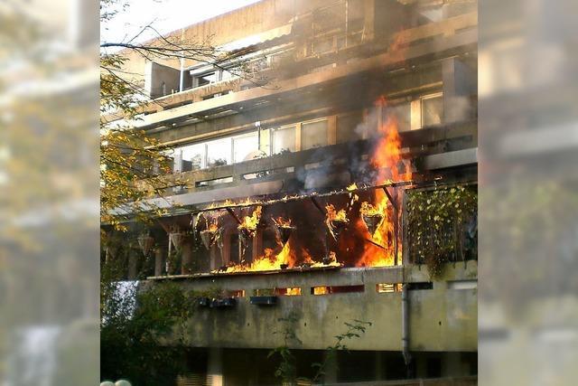 Brand in Weingarten - Nachbarin rettet Kinder