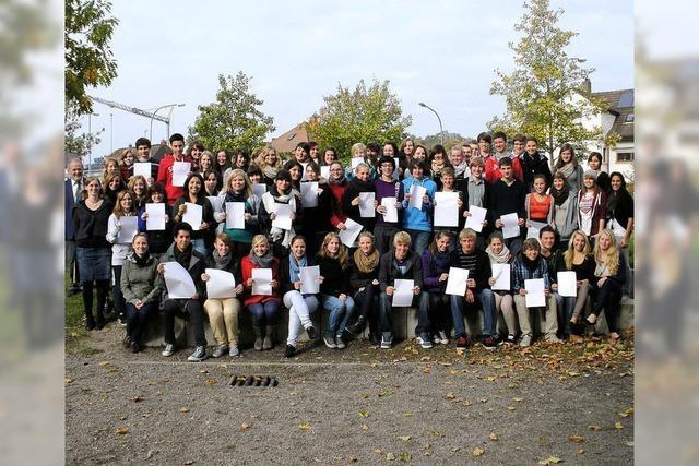 Sozial engagierte Schüler im Scheffelgymnasium