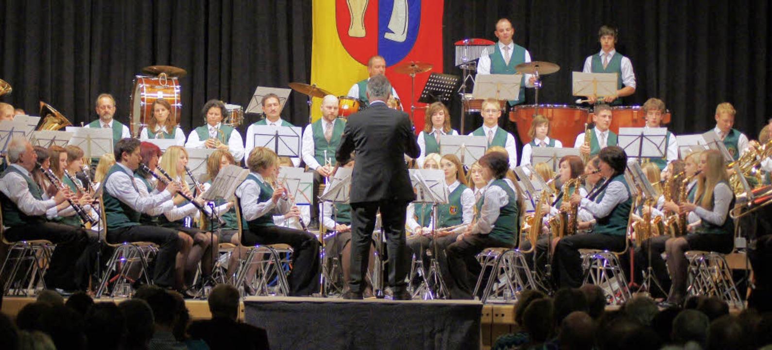 Der Musikverein Wyhl in Aktion. Im Rah...zerte in Bethlehem und Nazareth geben.