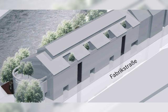 Eine Wohnzeile auf dem Löwen-Areal in Kollnau