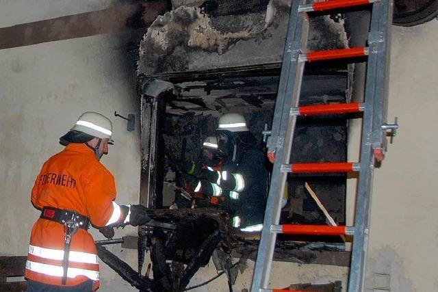 Wohnhausbrand in Sasbach