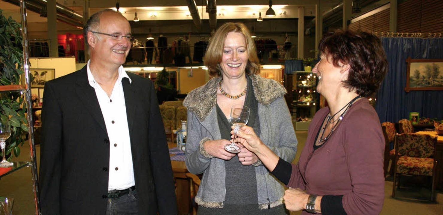 Bundestagsabgeordnete Kerstin Andreae ...Einrichtungshaus in Umkirch geleitet.   | Foto: Michael Saurer