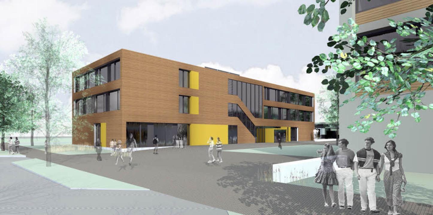 Das Modell der neuen Grundschule der Freien Evangelischen Schule.   | Foto: Schule