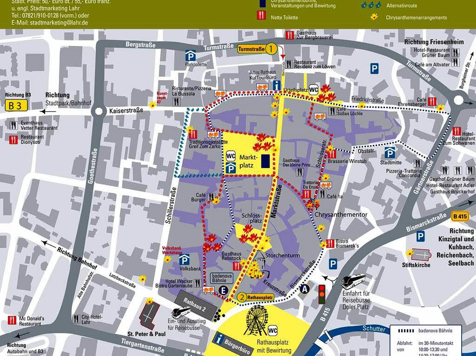 Chrysanthema Stadtplan 2011.  | Foto: stadt lahr