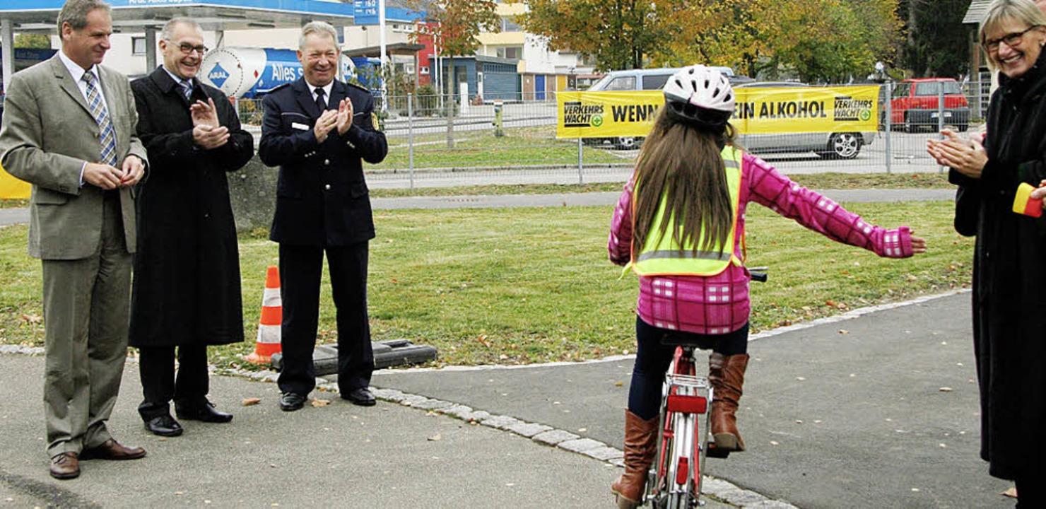 Kaum ist die Westschleife des Jugendve...eiter der  Polizeidirektion Freiburg.     Foto: Eva Korinth