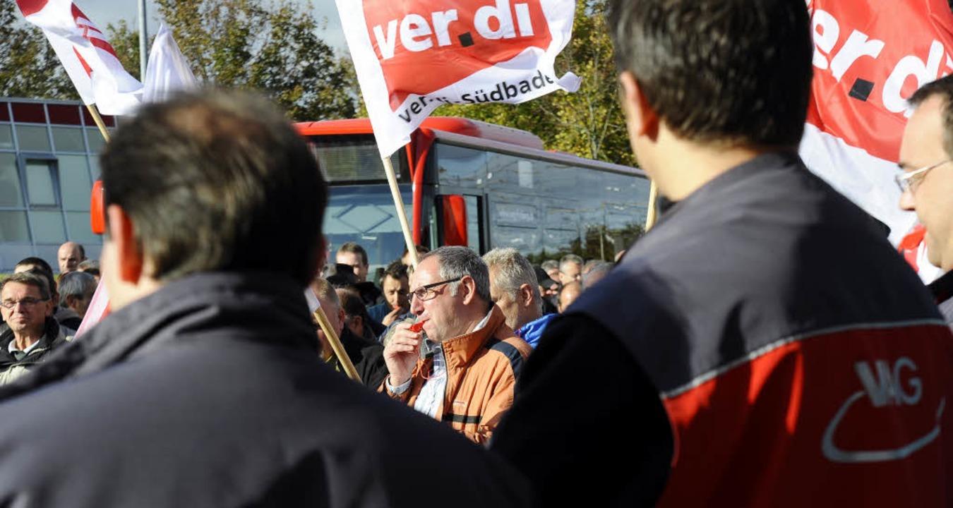 Die Gewerkschaft Verdi startet einen neuen Streiktag.  | Foto: Ingo Schneider