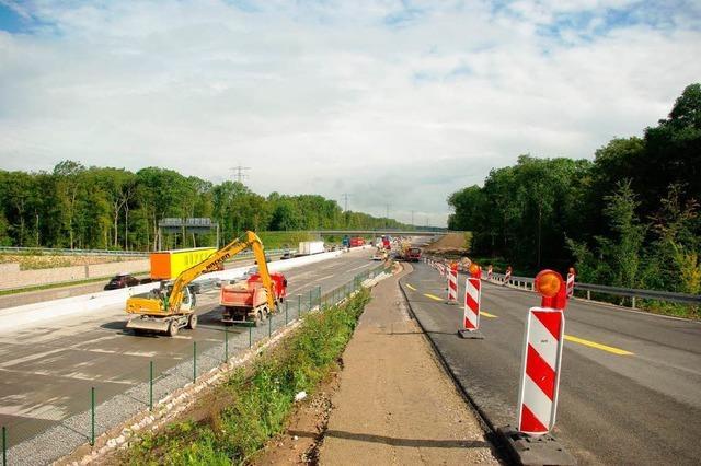 A5: Überholverbot in den Baustellen zwischen Offenburg und Bühl
