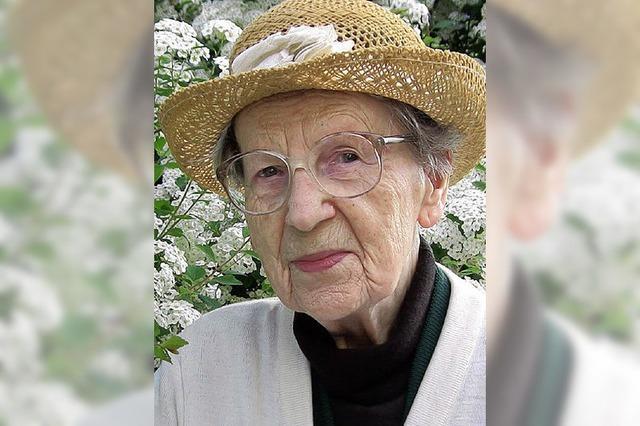 Maria Kassner wird heute 100 Jahre alt