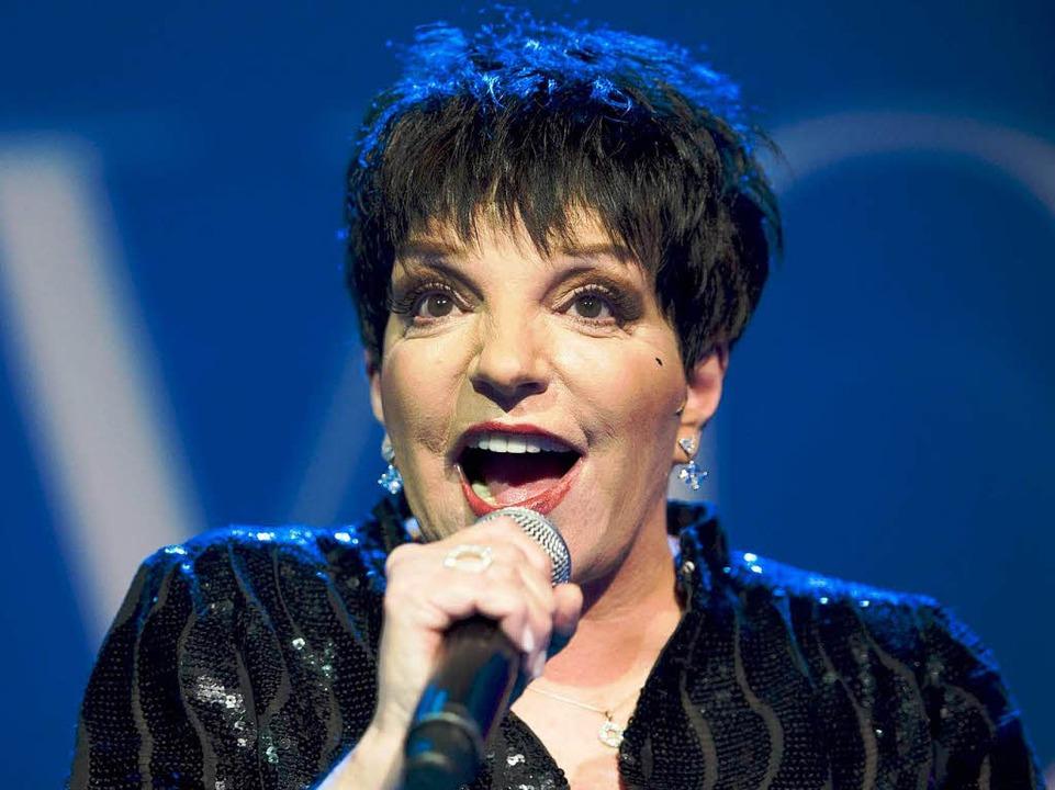 Legendäre Sängerin: Liza Minelli     Foto: dpa