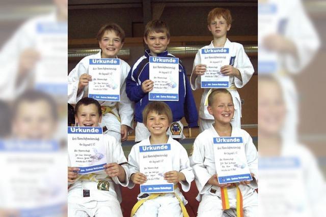 Junge Judokas haben Grund zur Freude