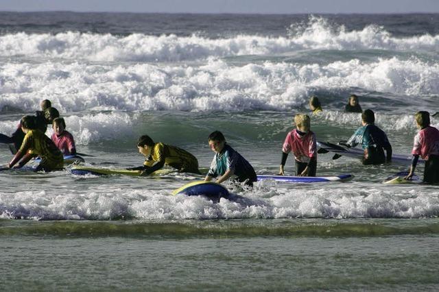 Surfen an Cornwalls Küste