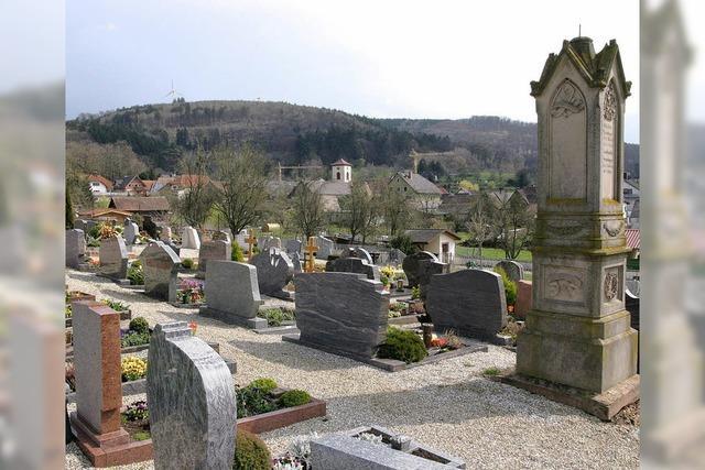 Verzicht auf Grabfelder