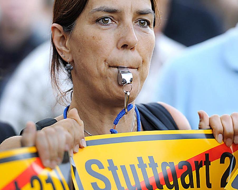 Aktivistin gegen S 21     Foto: dpa