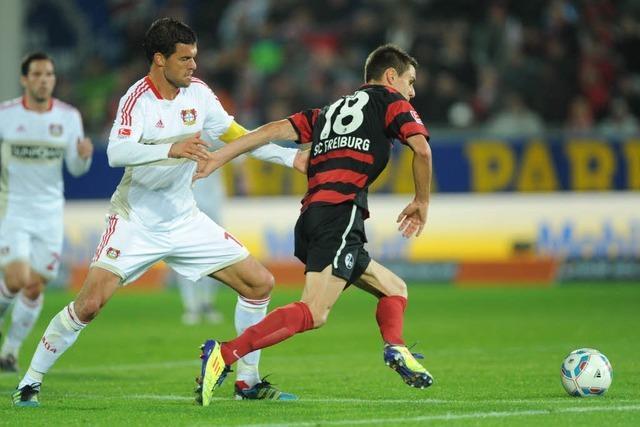 Der SC Freiburg unterliegt Bayer 04 Leverkusen mit 0:1