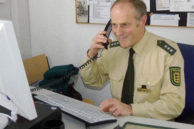 Polizist Walter Schneider geht in Ruhestand: Wenn die Wette nicht gewesen wäre