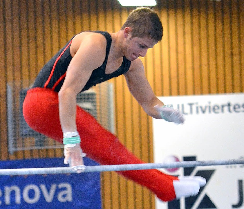 Sandro Dathe turnte gegen Monheim einen Sechskampf.   | Foto: Felix Held