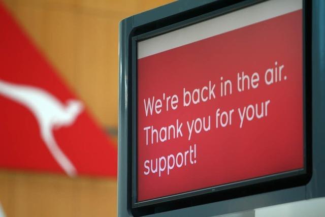 Qantas muss doch abheben