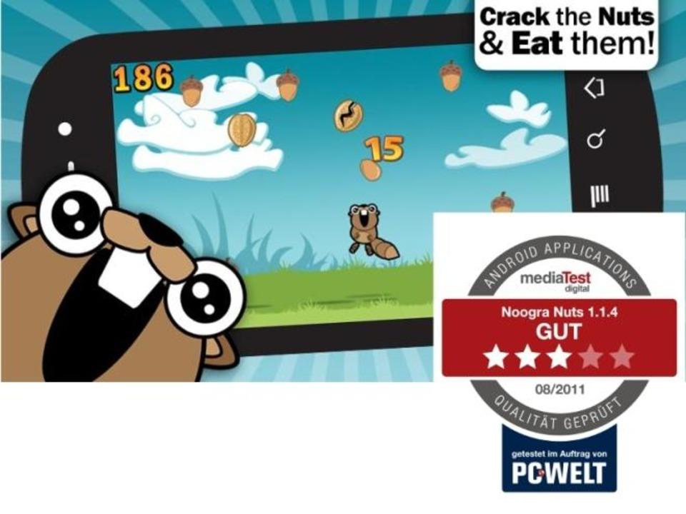 Platz 29:  Noogra Nuts - In dieser Gra...icherheit erhält die App die Bestnote.  | Foto: IDG