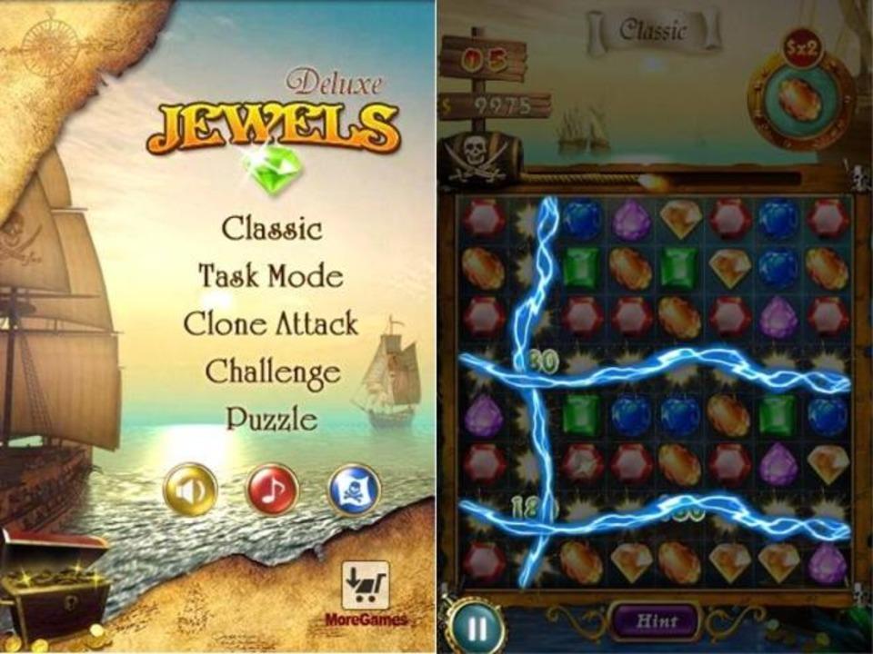 Platz 24: Jewels Deluxe - Match-3-Game...one Attack, Challenge und Puzzle Mode.  | Foto: IDG