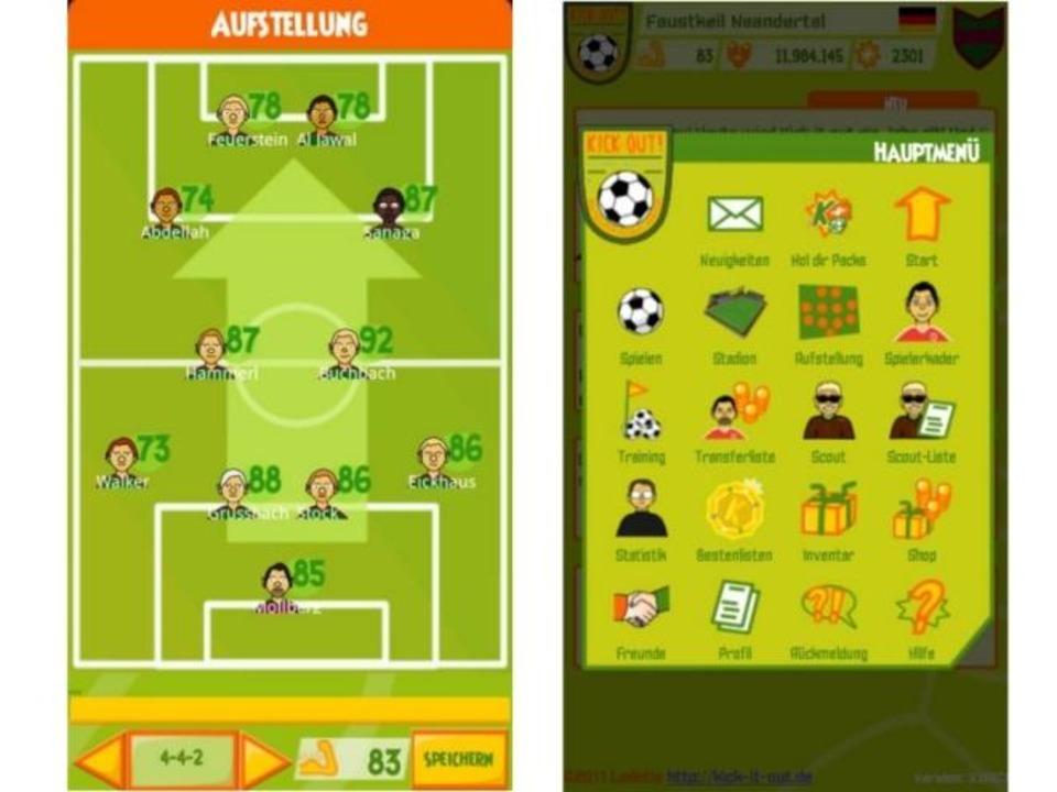 Platz 16: Kick it out! Fußball Manager...t, dass die Android-App werbefrei ist.  | Foto: IDG