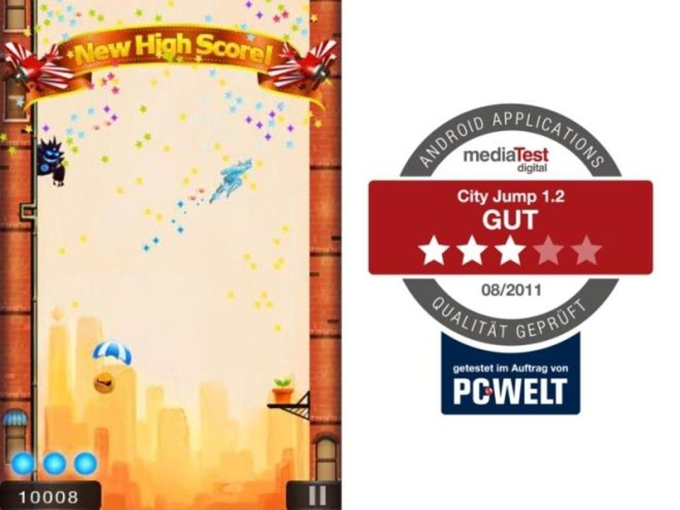 Platz 13: City Jump - In City Jump übe...e kostenlose Android-App die Bestnote.  | Foto: IDG
