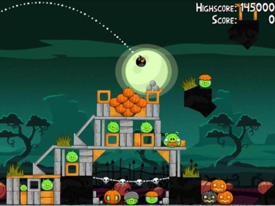 Platz 5: Angry Birds Season Halloween ...zu Halloween mit  gruseligen Ambiente.  | Foto: IDG