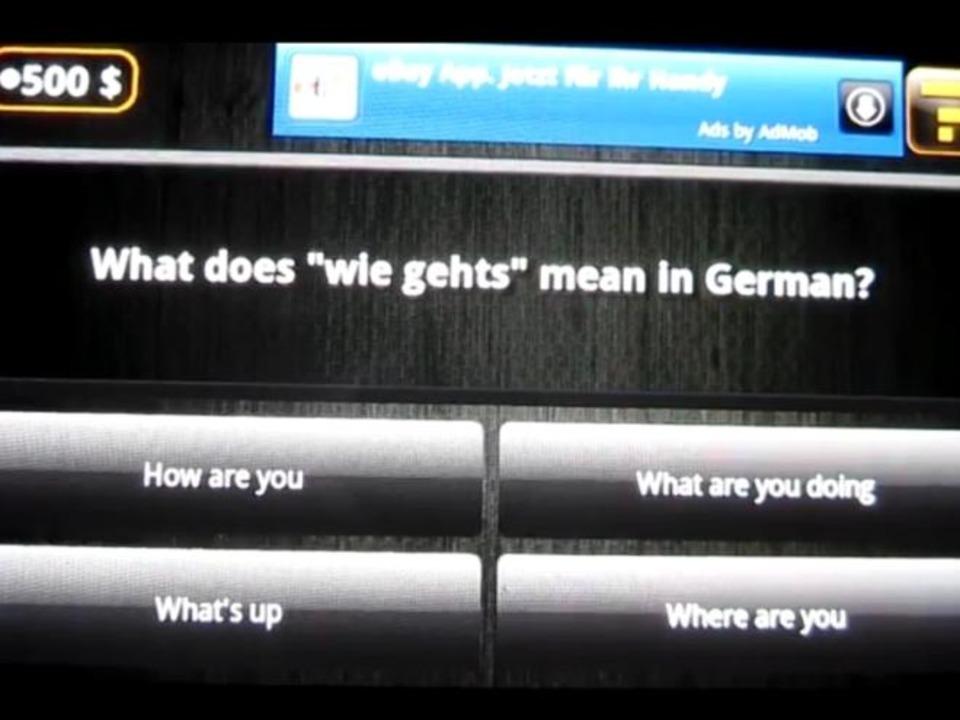 Platz 3: Wer wird Reich (Quiz) - Mögen...Spiel ist auch auf Deutsch erhältlich.  | Foto: IDG