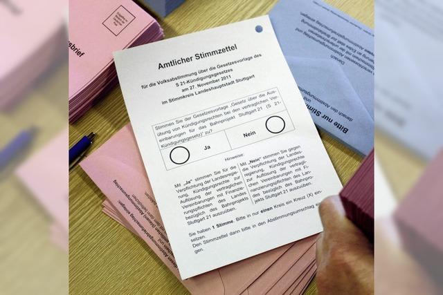 Rathaus bereitet sich auf Referendum über Stuttgart 21 vor