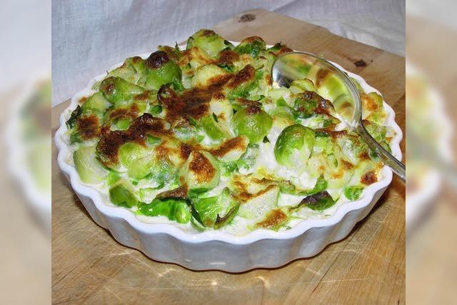 Rosenkohl und Kartoffeln: Auflauf für kalte Tage