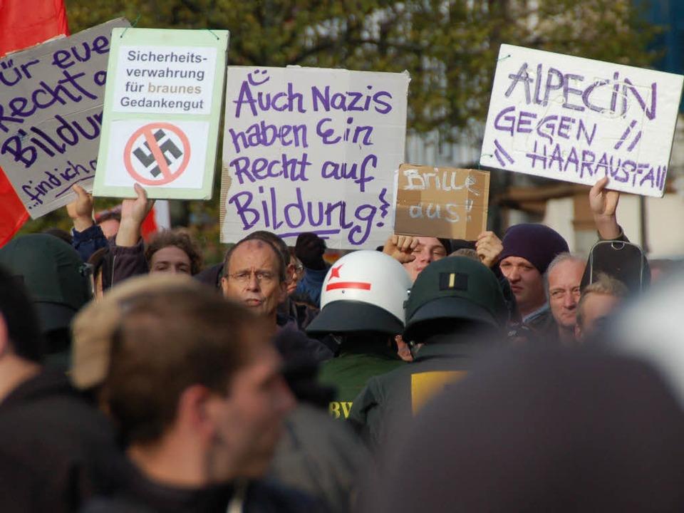 Die Offenburger haben  in der Vergange... der NPD-Kundgebung im Oktober 2010.    | Foto: archivfoto: seller