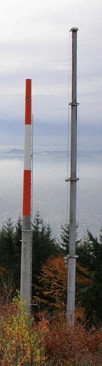 Wie meterlange Bleistifte recken sich ...sten für den Behördenfunk gen Himmel.   | Foto: Gerd Sutter