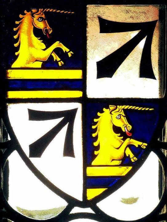 Das Herdern-Wappen ist heute in einem ...Gerichtslaube des Rathauses zu sehen.   | Foto: Hans Sigmund