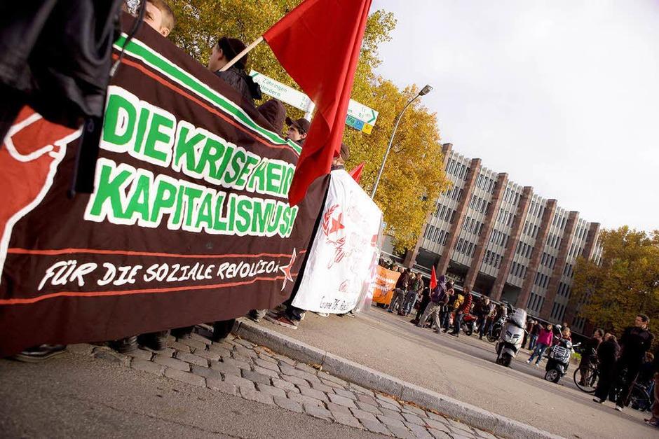 Demo gegen den G20-Gipfel in Freiburg. (Foto: Janos Ruf)