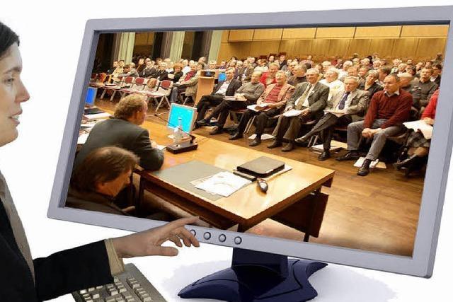 Vorerst keine Sitzungen im Internet