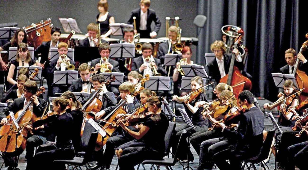 Das Landesjugendorchester im Konzert   | Foto: Roswitha Frey/ZVG