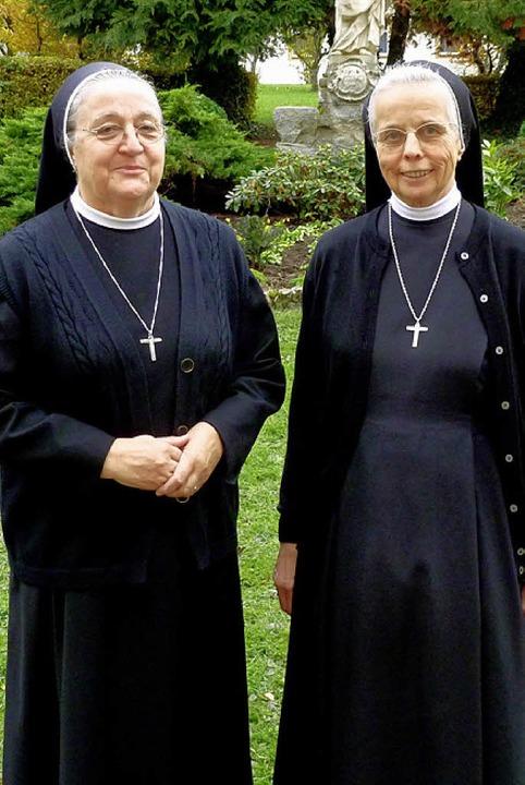 Neue Oberin des Klosters St. Trudpert ...orgängerin Schwester Gertraud Wiesler.    Foto: E. Gros