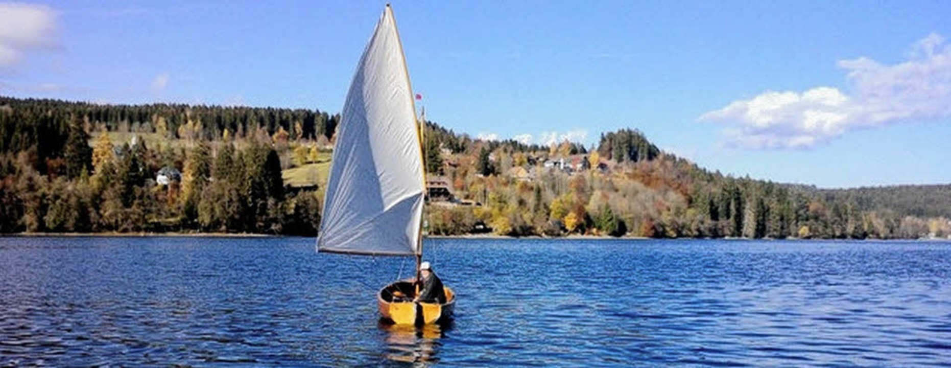 Den ganzen See für sich allein: &#8222...; am 6. November ohne Eis und Schnee.   | Foto: Privat