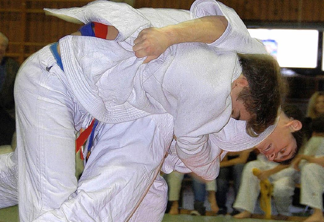 Spannenden Kampfsport gab es bei den V...Judo-Clubs Efringen-Kirchen zu sehen.   | Foto: Herbert Frey