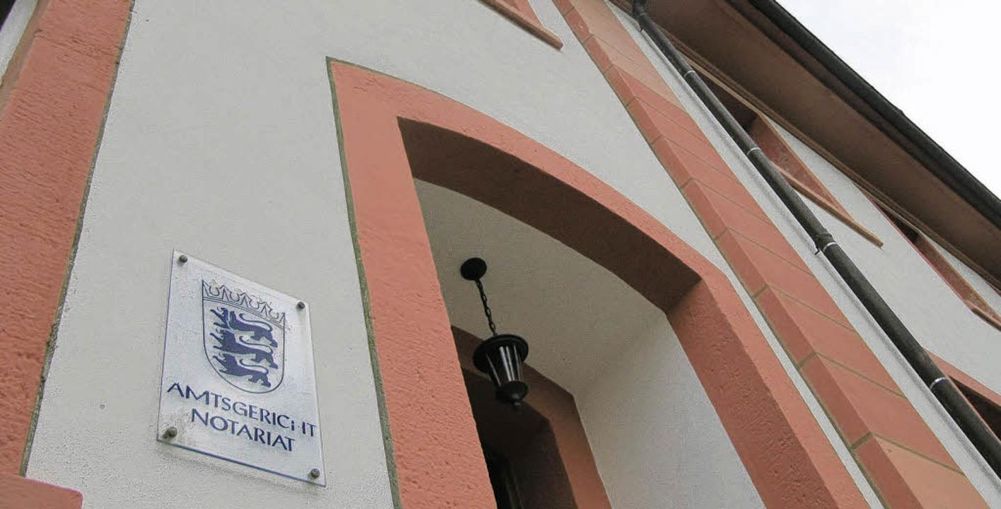 Hinter der Tür zum Amtsgericht  arbeit...ich Stefanie Herke rundum wohl fühlt.     Foto: Susanne Filz