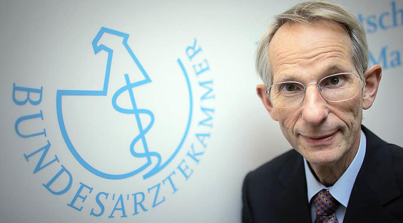 Zwölf Jahre lang oberster Arzt im Land: Jörg-Dietrich Hoppe    Foto: dpa