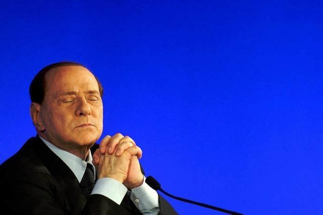 Berlusconi will zurücktreten – aber nicht sofort