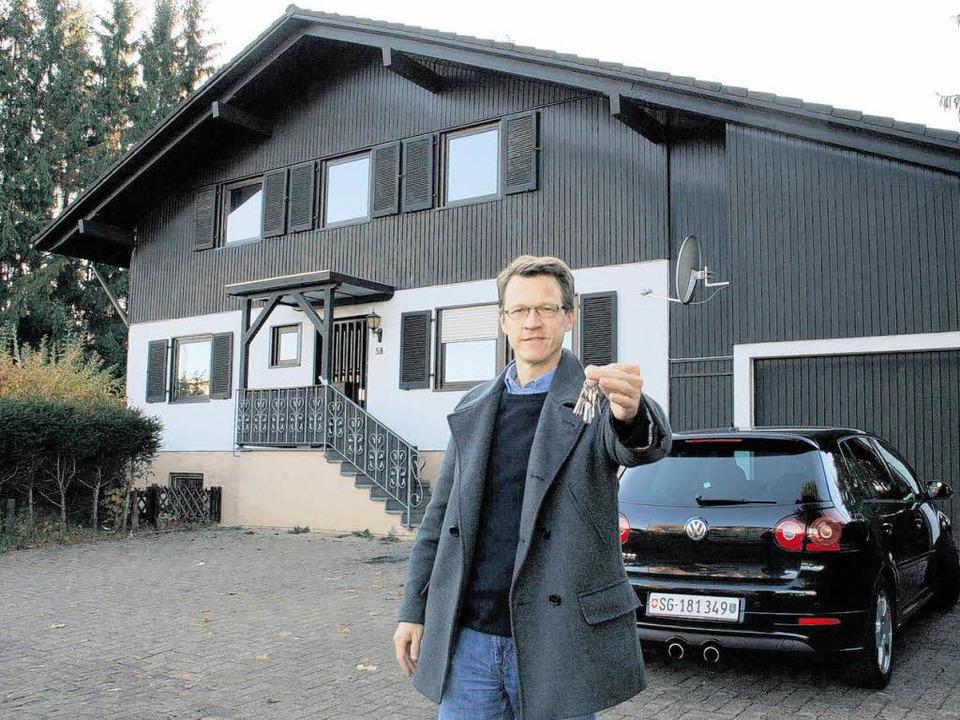 Christoph Bromberger hält die Hausschl...haus zu schade, sagt der Unternehmer.   | Foto: Losert