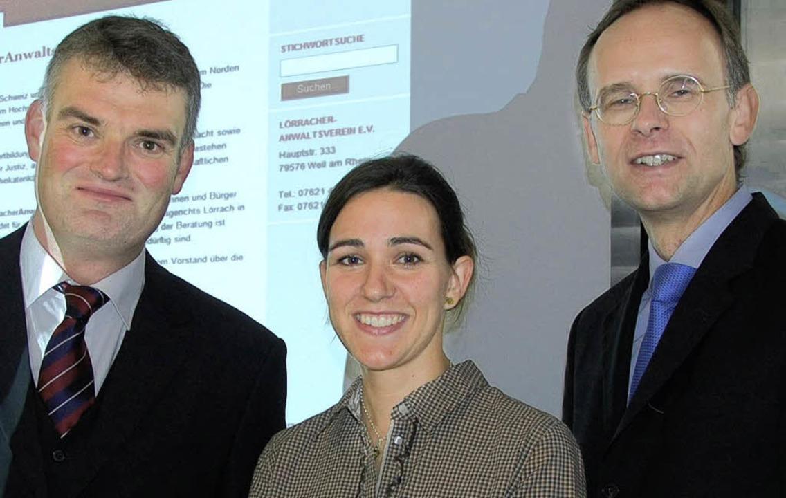 Boris Riemer, Carolin Cordier  und Klaus Krebs (rechts)   | Foto: Herbert Frey