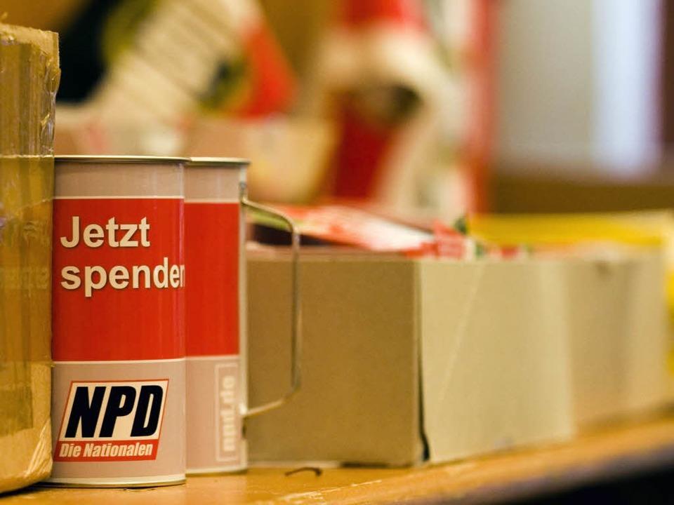 Die NPD darf ihren Bundesparteitag nic...nburg abhalten. Das entschied der VGH.  | Foto: ddp