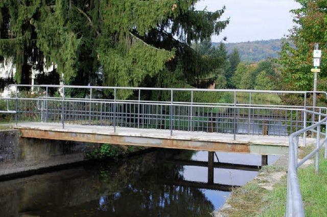 Neue Brücke am Haagener Wuhr