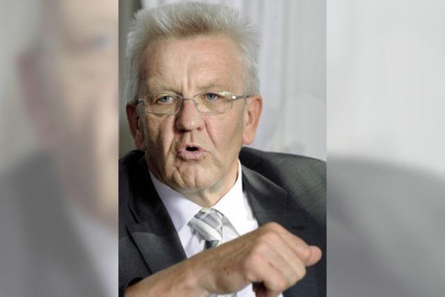 Ministerpräsident Winfried Kretschmann: