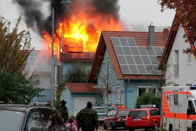 Wohnhausbrand in Riegel - hoher Schaden, keine Verletzten