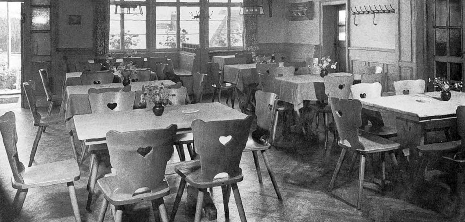 Tische und Stühle von Hiller im Hirschen in St. Märgen 1958   | Foto: hiller