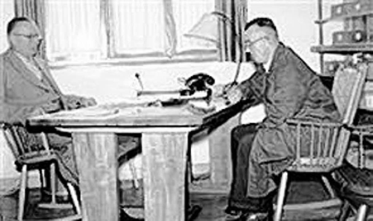 Erich und Herbert Hiller im September 1955.   | Foto: Hiller